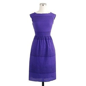 J Crew Lucille Geo Eyelet Fit and Flare Dress